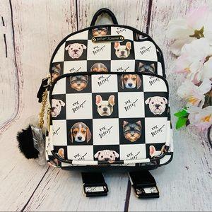 Betsey Johnson Kitsch Backpack Dogs